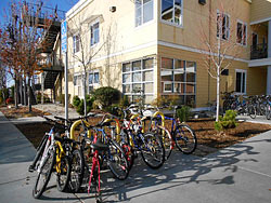 bicycles in front of Mary Isaak Center