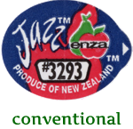 produce label for a Jazz apple, not organically grown