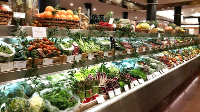 amazing variety of produce in the grocery store